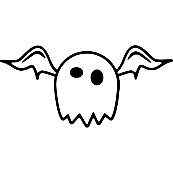 cute ghost black