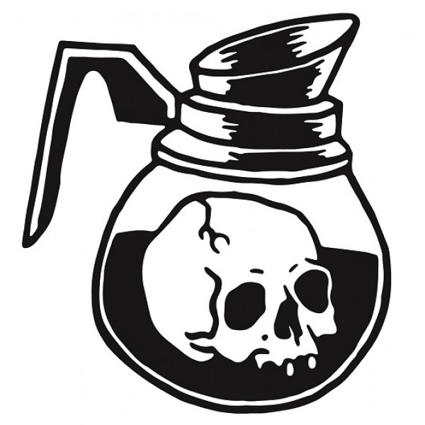 Sticker Skull coffee #S103