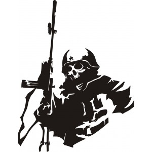 Sticker red army skull