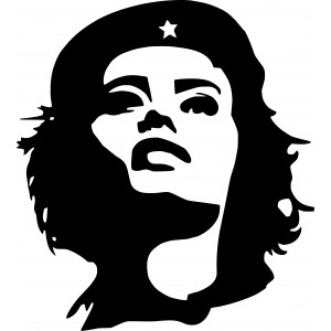 Sticker Che Guevara black