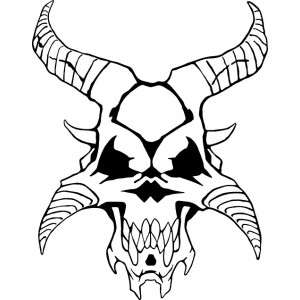 Sticker Daemon Skull17 #105