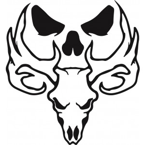 Sticker Deer Skull 1#95