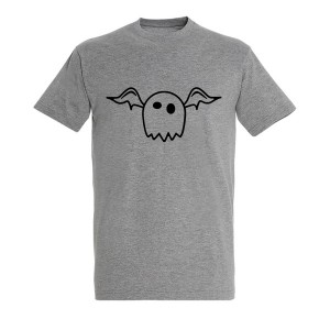 Men cute ghost black grey