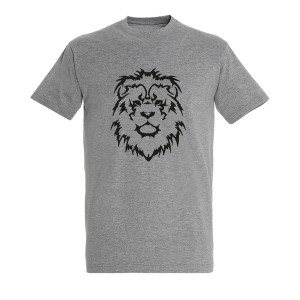 Men lion black grey