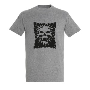 Men Skull 11 black grey