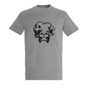 Men skull 12 black grey