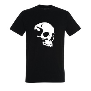Men Skull 13 white black
