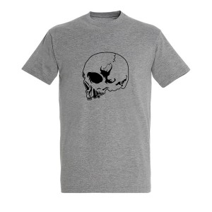 Men Skull_8 black grey