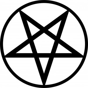 Sticker Pentagram black