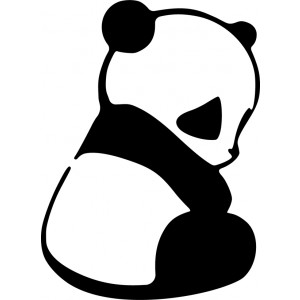 Sticker Panda1 black