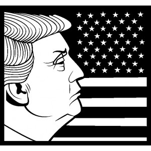 Sticker Donald Trump #79
