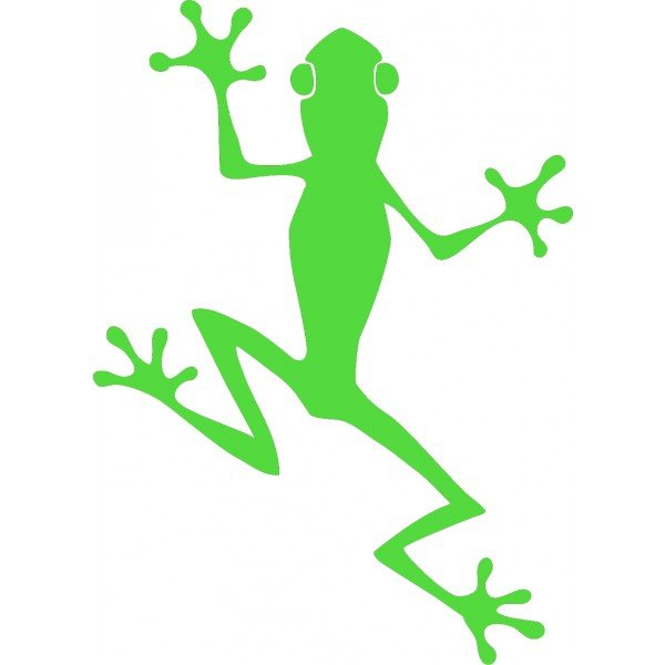 Tree frog sticker lizard