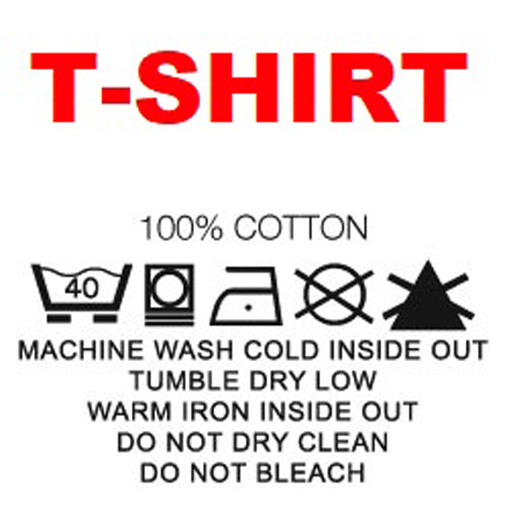 T shirt label information